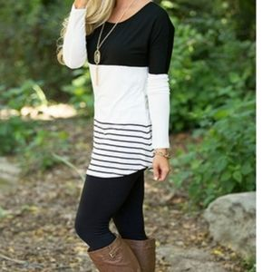 Tops - NEW! COLOR BLOCK TUNIC